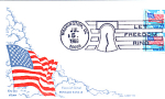Flag With Clouds, Let Freedom Ring, 2 Stamp Washington,