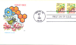 Honey Bee, 2 Stamp Omaha, Ne 1988 Fdc