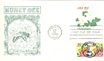 Honey Bee, 3 Stamp Paris, Il 1980 Fdc