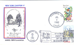 New York Eastern Bluebird, 2 Stamp 1982 Fdc