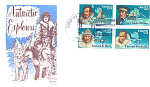 Antarctic Explorers, 4 Stamp Block Bird In Hand, Pa 198
