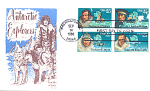 Antarctic Explorers, 4 Stamp Block Washington, Dc 1988