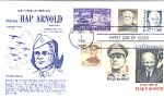 General Hap Arnold, 6 Stamp 1988 Fdc