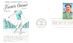 Golfer Francis Ouimet, 1 Stamp 1988 Fdc