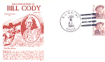 Bill Cody, Buffalo Bill, 2 Stamp Cody, Wy 1988 Fdc
