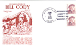 Bill Cody, Buffalo Bill, 2 Stamp Buffalo, Wy 1988 Fdc