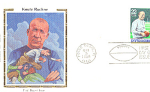 Knute Rockne 1 Stamp, Color Silk Cachet Notre Dame, In
