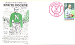 Knute Rockne 1 Stamp, Rushville, In 1988 Fdc