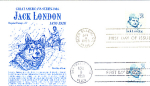 Jack London 2 Stamp, Double Cancellation 1986 & 1988 Fd