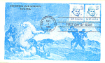 Jack London 2 Stamp, Art Background 1988 Fdc