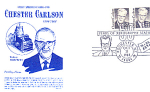 Chester Carlson 2 Stamp 1988 Fdc