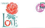 The Love Stamp 25 Cent Stamp With Rose, Pasadena, Ca 19