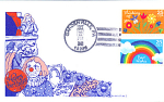 Thinking Of You, Best Wishes 2 Stamp 1988 Fdc