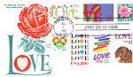 Love Stamp With 7 Stamps 1988 Fdc