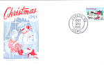 Christmas Greetings Single Stamp, Berlin, Nj 1988 Fdc