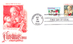 Christmas 2 Stamp, Washington, Dc 1988 Fdc