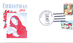 Christmas 2 Stamp, Churchville, Md 1988 Fdc