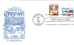 Christmas 2 Stamp With Horse & Sleigh, Berlin, Nh 1988