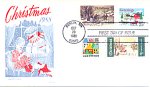 Christmas 4 Stamp, Berlin, Nh 1988 Fdc