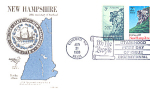 New Hampshire 2 Stamp 1988 Fdc