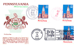 Pennsylvania 200th Anniversary 3 Stamp 1987 Fdc