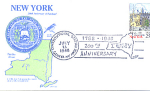 New York 200th Anniversary, Geneva, Ny 1 Stamp 1988 Fdc