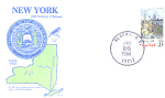 New York 200th Anniversary, Albany, Ny 1 Stamp 1988 Fdc