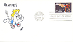 Summer Olympics With Cartoon Single Stamp, Colorado