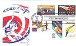 Summer Olympics 5 Stamp, Colorado Springs, Co 1988 Fdc