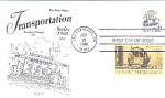 Cable Car Transportation Series, 2 Stamp 1988 Fdc