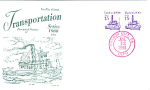 Tugboat Transportation Series, 2 Stamp 1988 Fdc