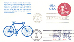 Tandem Bicycle Transportation Series, 3 Stamp Double