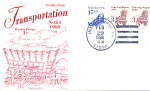 Transportation Series, 3 Stamp Intercource, Pa 1988 Fdc
