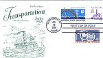 Transportation Series, 3 Stamp Long Beach, Ca 1988 Fdc