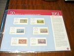 1951 Panel, 50 Years Of U.s. Commemorative Stamps