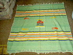 Light Mexican Blanket Or Table, Furniture Cover