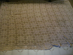Hand Stitched And Woven Large Tablecloth