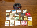 20 Matchbooks, Advertising Ashtray, Zippo Lighter
