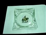 Fire King Glass Ashtray, Jockey & Horse