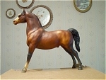 Standing Breyer Horse With Part Of Original Tag