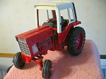 Vintage Large Ertl Cast Metal Farm Tractor With Front
