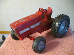 Vintage Ertl Cast Metal Farm Tractor With International