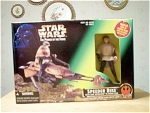 Speeder Bike With Luke Skywalker In Endor Gear, Mib