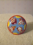 U.s. Metal Toy Mfg. Co. Tin Clown Rattle, Circa 1950s