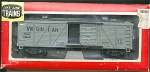 Virginian Wood Sliding Door Box Ho Scale Train Car