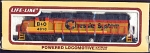 Chessie System Ho Scale Locomotive With Headlight