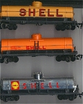 3 Shell Gas Single Silo Top Oil Tanker Ho Scale Cars