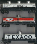 3 Texaco Gas Silo Top Oil Tanker Ho Scale Cars