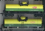 2 Dupont Single Silo Top Oil Tanker Ho Scale Cars