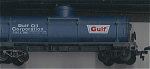 Gulf Oil Corp. Single Silo Top Oil Tanker Ho Scale Car